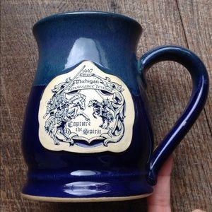 1997 Michigan Renaissance Mug Stein Pottery Large